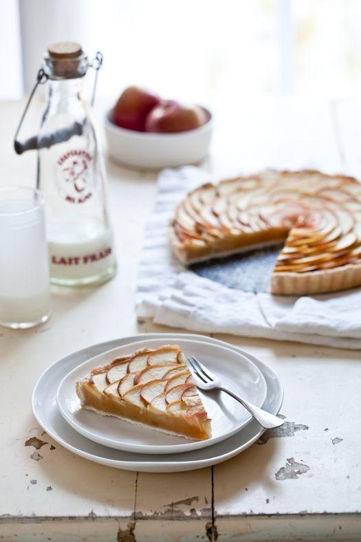 thin apple tart • tartelette
