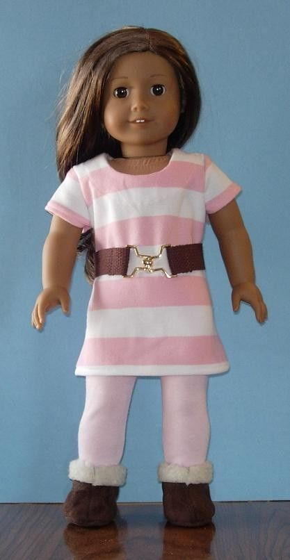 American Girl dress tee shirt style with belt by apriljunebug,