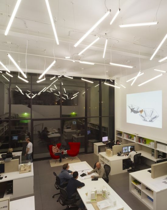 20th St. Offices, Belzberg Architects. #interior #lighting