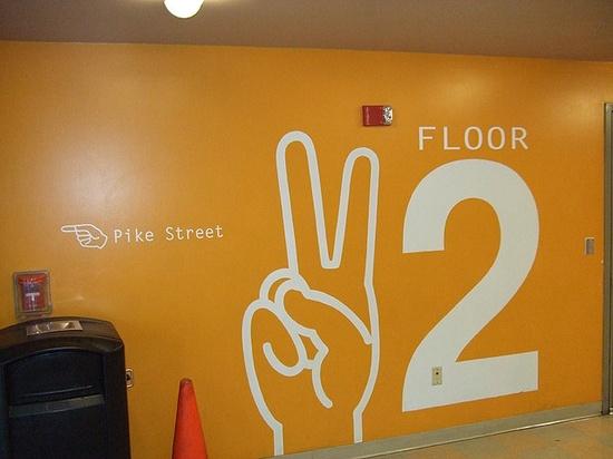 Seattle Parking Garage Graphics - Floor 2