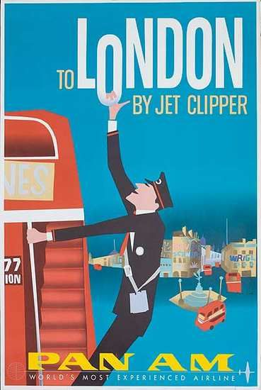 Vintage travel poster London by TWA #vintage #travel #poster #England
