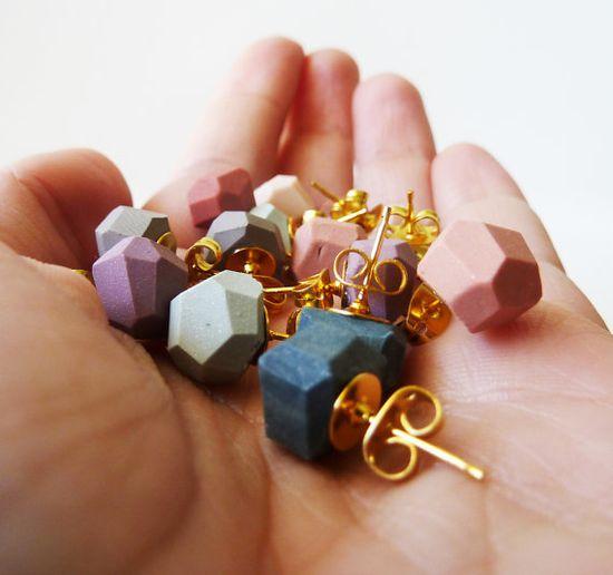 earrings #fall #colors #ammjewelry #jewelry #handmade #ooak #etsy #geometric #pink #blue #purple #grey #nude #gold
