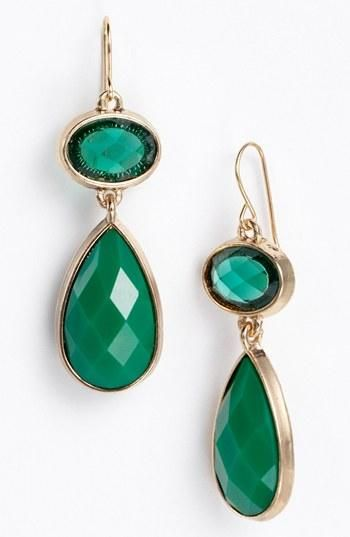 Color of the year earrings! Gorgeous emerald.