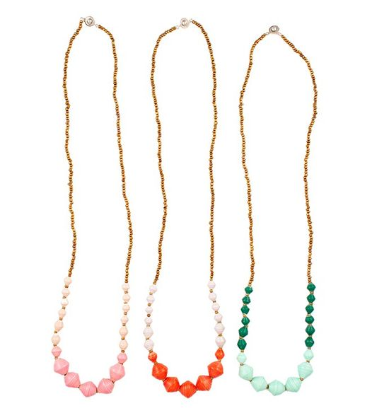 Luna Necklaces from @31 Bits  Loving the Mint/Green and Orange/Lavender ones)