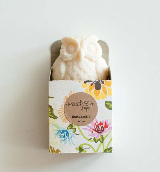 Patchouli & Rose Soap - NOCTURNALIA Owl Soap - Natural, Handmade, Cold Processed, Vegan. www.etsy.com/...