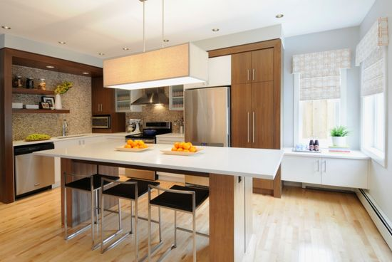walnut & white kitchen. interior design by corea sotropa via http://www.thepinkchandelier.ca
