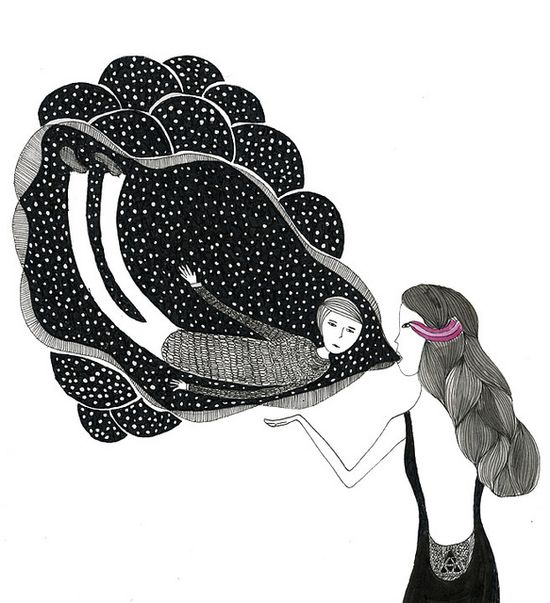 bubble boy by Mimi illustration