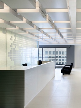 Extra large counter desk, BCG office in Melbourne by Carr Design group _