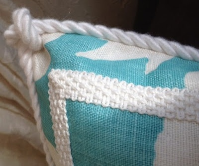 knotted corner pillow