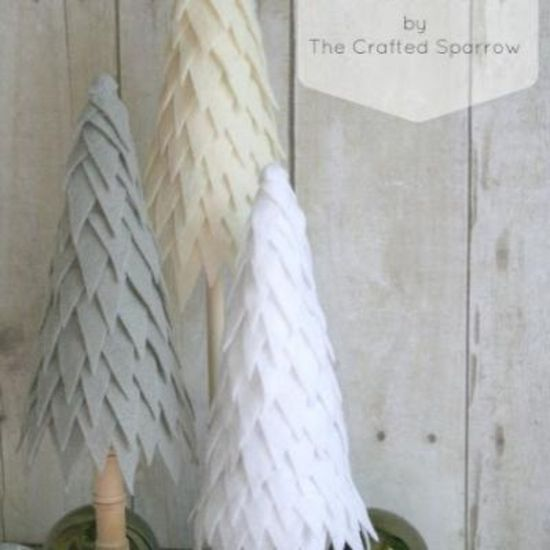 Felted Pine Trees {do it yourself christmas}
