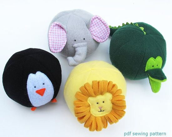 Zoo Friends Toy Balls- PDF sewing pattern - free shipping. $7.50, via Etsy.