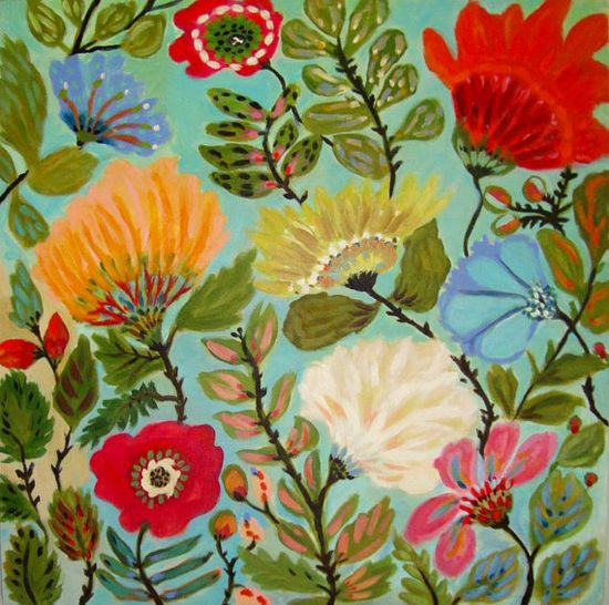 'Freedom Garden' (acrylic on canvas) by Karen Field