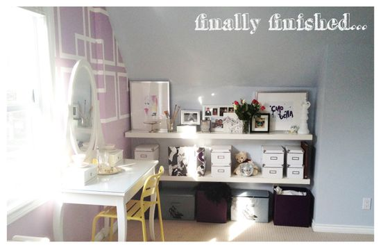 Stylish Teenage Girl Bedroom by sketchystyles.com