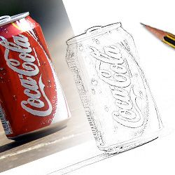 Photoshop Tutorial - Change a photo into a line drawing in 9 easy steps-Mural