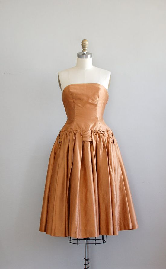 1950s Silk Party Dress