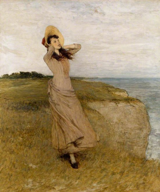 lesfoudres:  William Quiller Orchardson (by hauk sven)      Sir William Quiller Orchardson, R.A. (1832 - 1910) — On the North Foreland, oil on canvas, 1890.