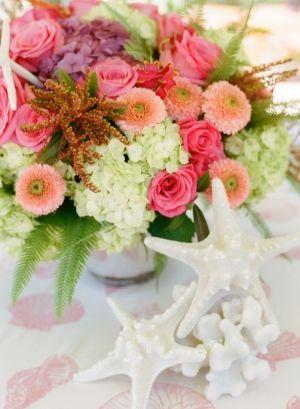 Pink Flower Arrangements #wedding, #weddings, facebook.com/...
