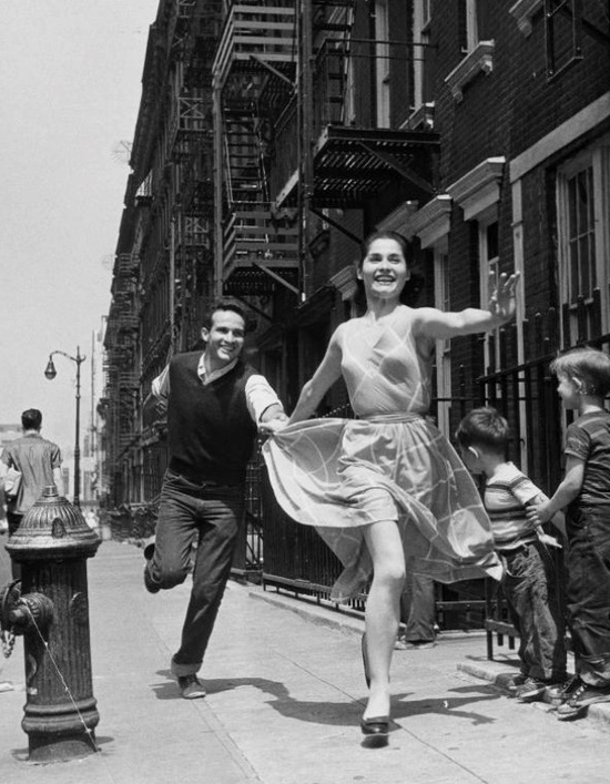 The alternate version of the iconic West Side Story photo for the original Broadway production.