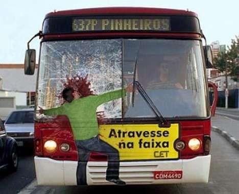 Pedestrian safety ad in Brazil repinned by www.BlickeDeeler.de