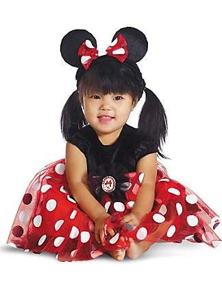 Red Minnie Mouse costume from the Catch My Party Store! #costume #minniemouse