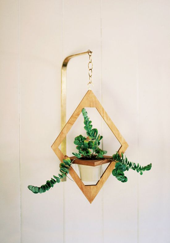 Jungalow Hanging Planter // Geometric Ornament // by weareMFEO