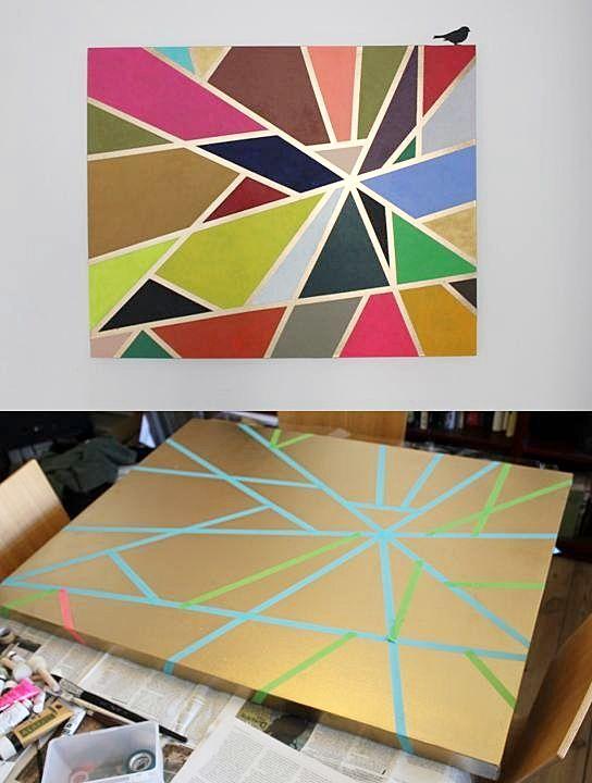 DIY: tape painting