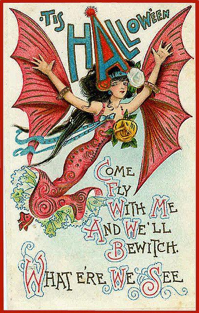 Vintage Halloween Postcard #Halloween #postcard