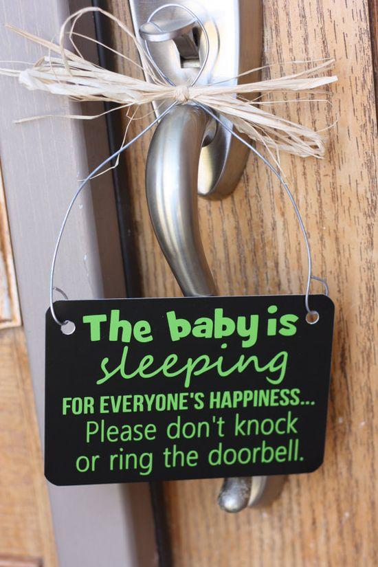 Baby is Sleeping  Door Hanger Notification by SimpleBlessingsNLife, $16.00