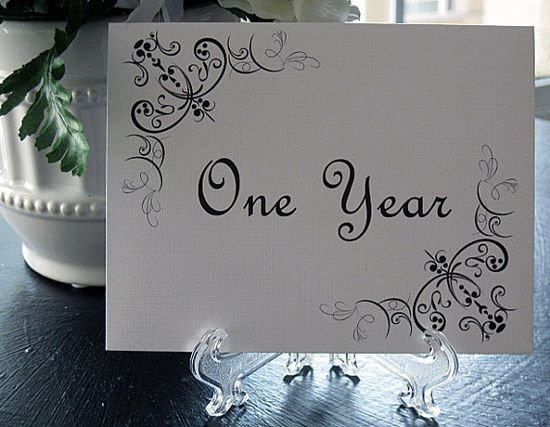 Place these cards on tables and have guests write in them. Then open on your anniversaries!