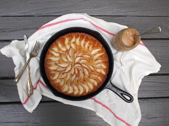 maple bourbon pear cake