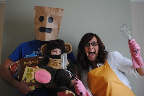 Lunch Lady, Baghead and their baby Monkey Boy!