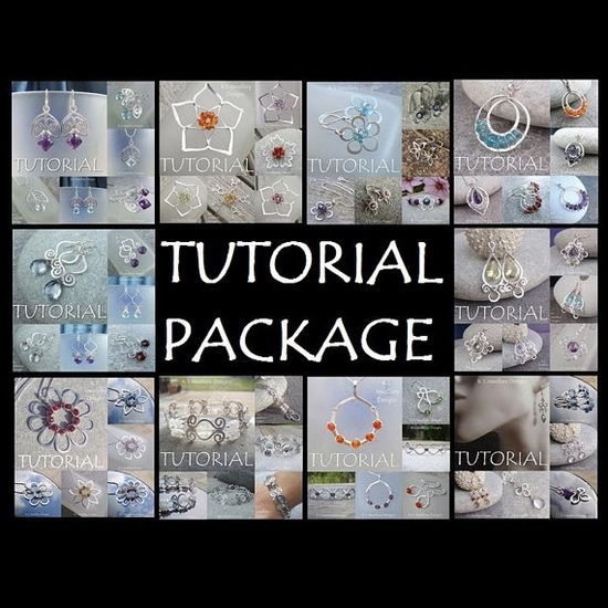 Wire jewelry tutorial package