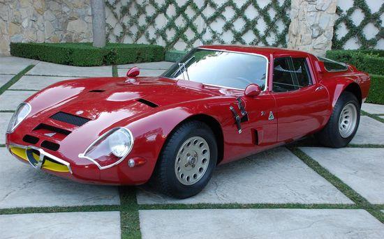 1965 Alfa Romeo TZ2.  Design by Zagato.