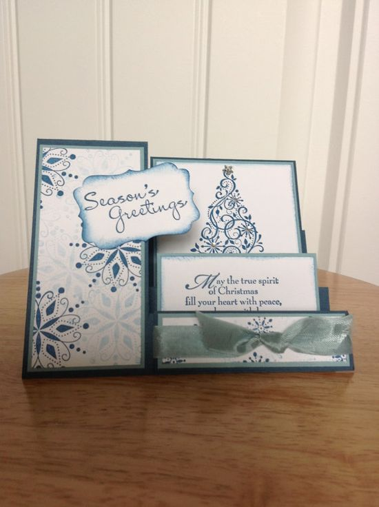Stampin Up side step Christmas card.
