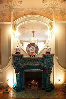 Art Nouveau fireplace