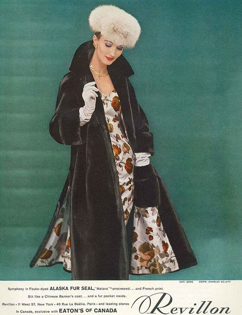 Ravishingly stylish! #coat #hat #dress #vintage #fashion #1950s