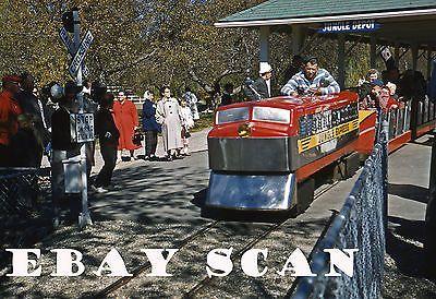 ORIG SLIDE Benson's Wild Animal Park Railroad Hudson NH 1959!