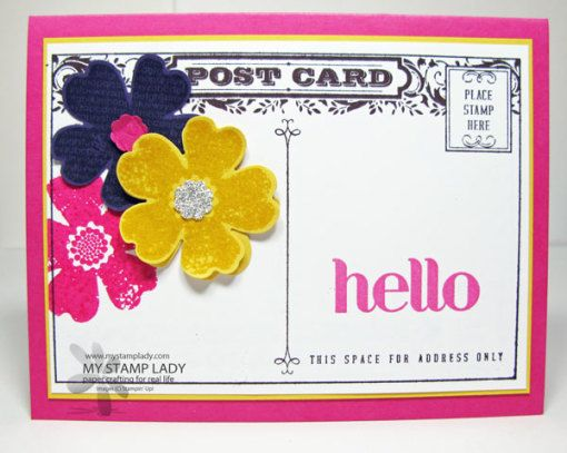 Handmade Card With the Four You Stamp Set