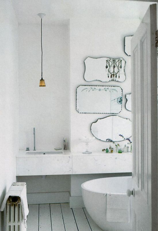 mirrors. bathroom. vintage.