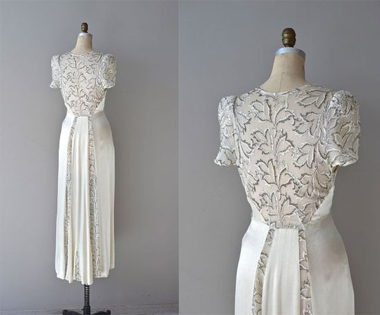 1930s wedding dress / vintage 30s wedding dress / by DearGolden, $1250.00