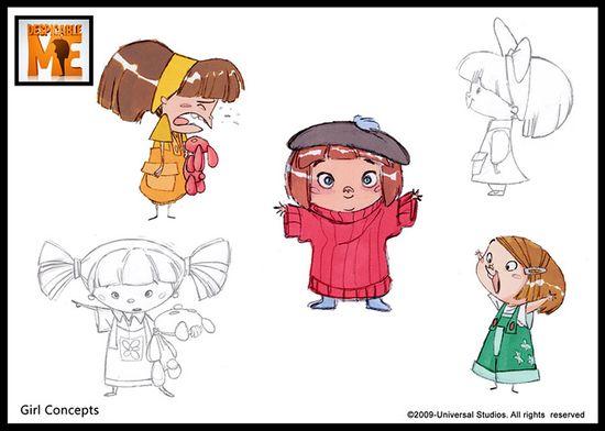 Despicable Me (2010) - Character Design www.facebook.com/...