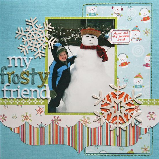 1 photo #scrapbook page
