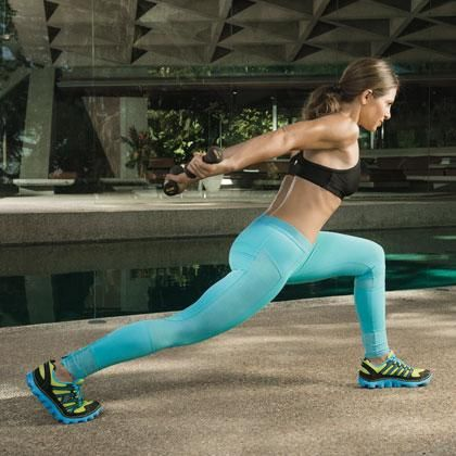 Tone your tris while you work your butt and legs.