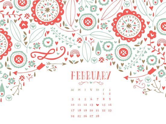 Free desktop wallpaper February