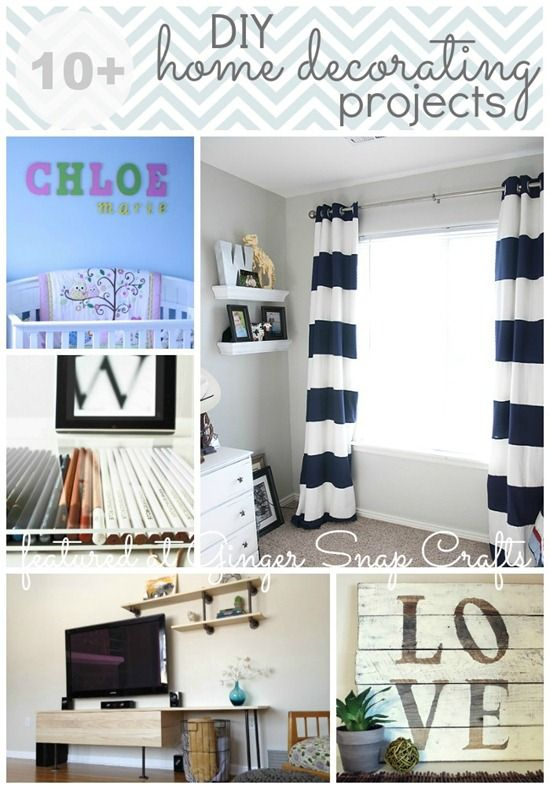 10+  DIY Home Decorating Projects