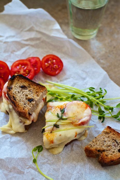 Gourmet Grilled Cheese - I think I could make this happen with one of  Udi's Gluten free breads