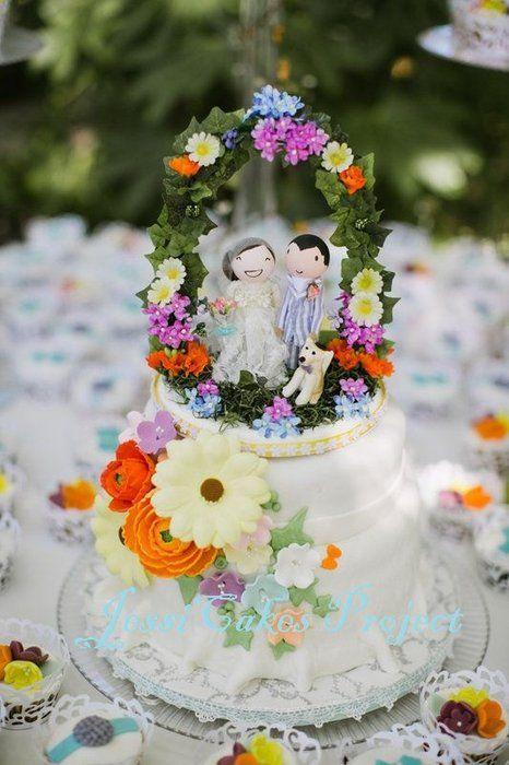 Garden Theme Wedding Cake