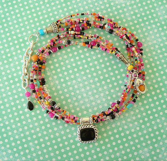 Boho Necklace Bohemian Jewelry Colorful Jewelry by BohoStyleMe, $112.00