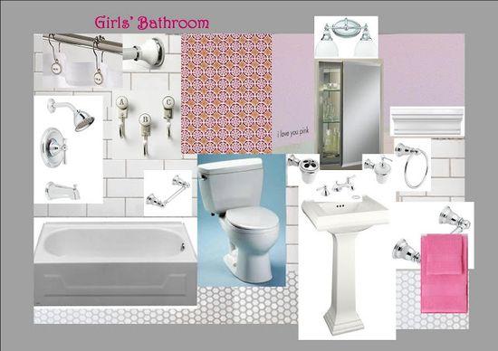 12 devonshire: The Girls' Bathroom Design Plan