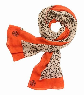 cheetah print scarf / tory burch